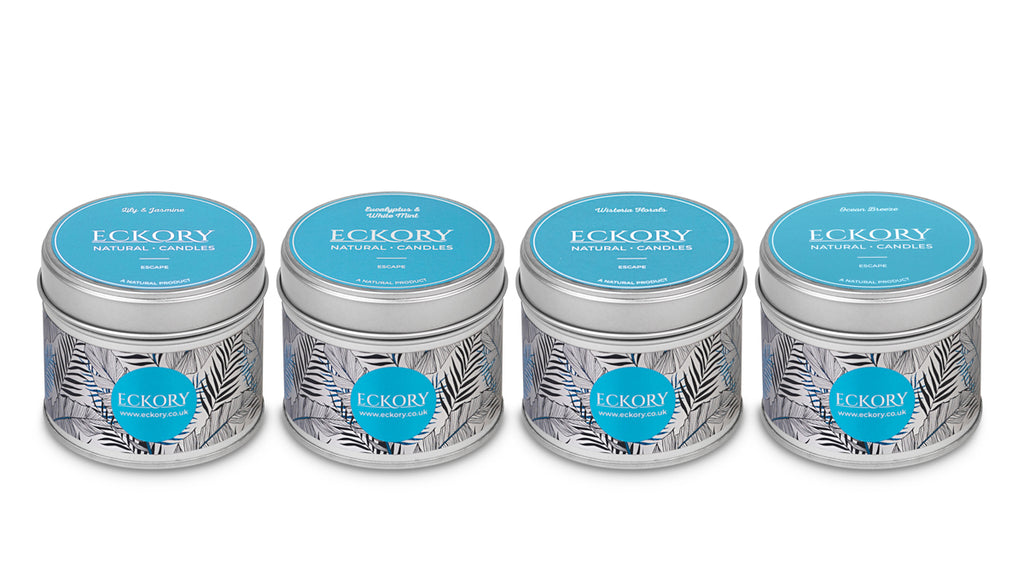 Eckory , Escape luxury scented natural wax tin candles scented luxury gift eckory