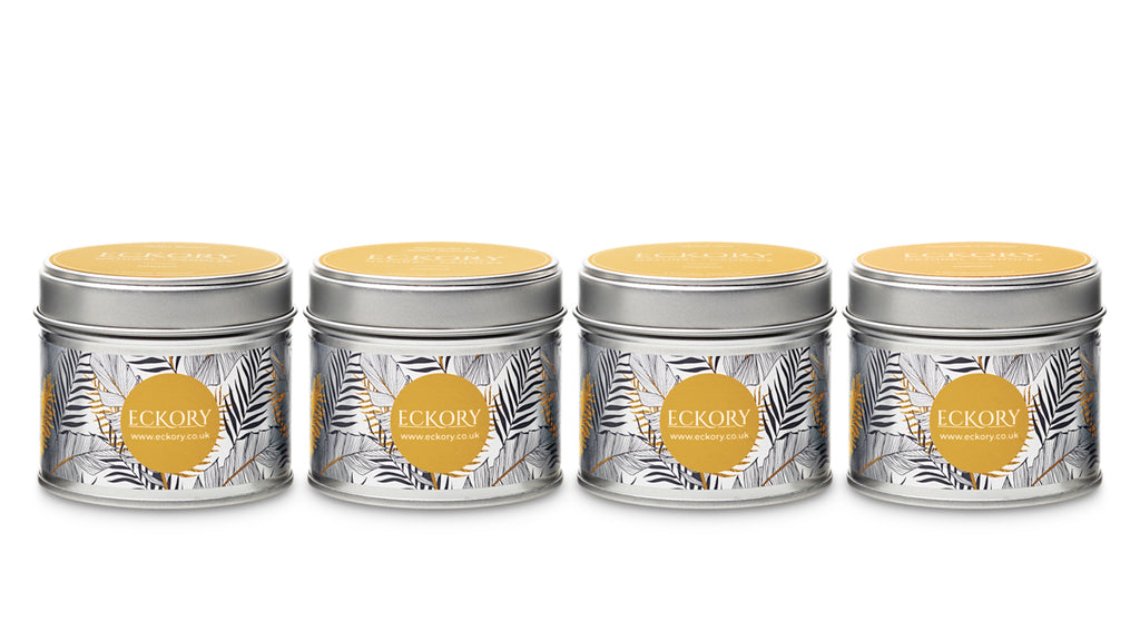 Eckory , Eckory natural wax scented luxury gift, natural wax tin candle eckory