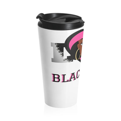Love Blackness Stainless Steel Travel Mug