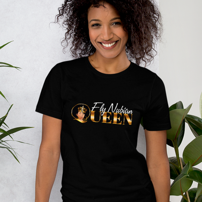 Fly Nubian Queen Logo Short-Sleeve