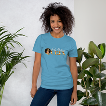 Women's Short Sleeve T Shirts With Fly Nubian Queen Logo