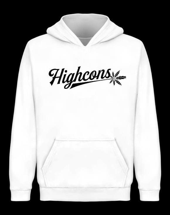 Icon Hoodie White - Highcons Aparrel