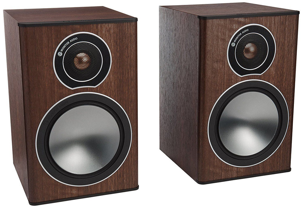 Monitor Audio Bronze Series 1 2 Way Bookshelf Speakers - Walnut
