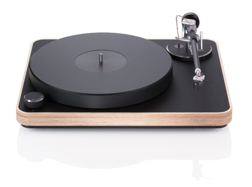 Concept Wood Turntable w/ Satisfy Carbon Tonearm (Silver) & Concept MC Cartridge