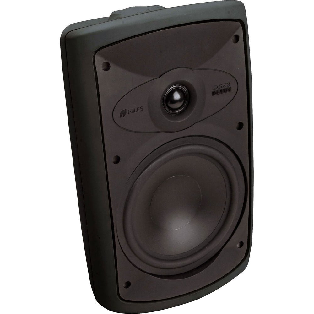 "Niles OS7.3 Black 7"" 2-Way High Performance Indoor/Outdoor Loudspeakers - Pair (Black)"
