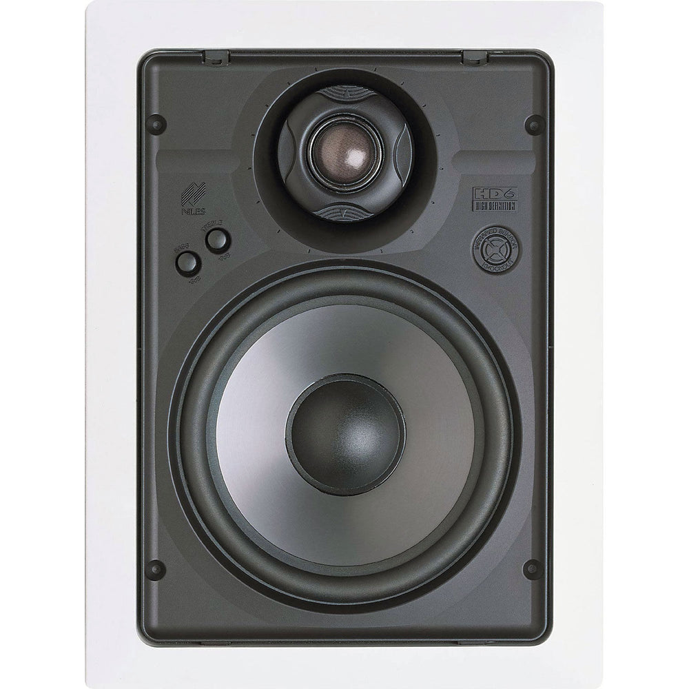 "Niles HD6R 6-1/2"" 2-Way High Definition In-Wall Loudspeakers with Bracket Kit - Pair (White)"