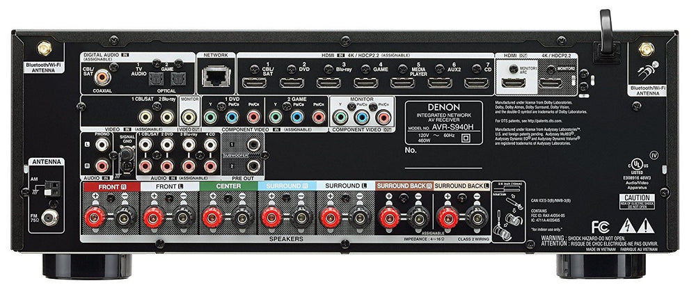 Denon AVR-S940H Receiver 7.2 Channel 4K Ultra HD Video