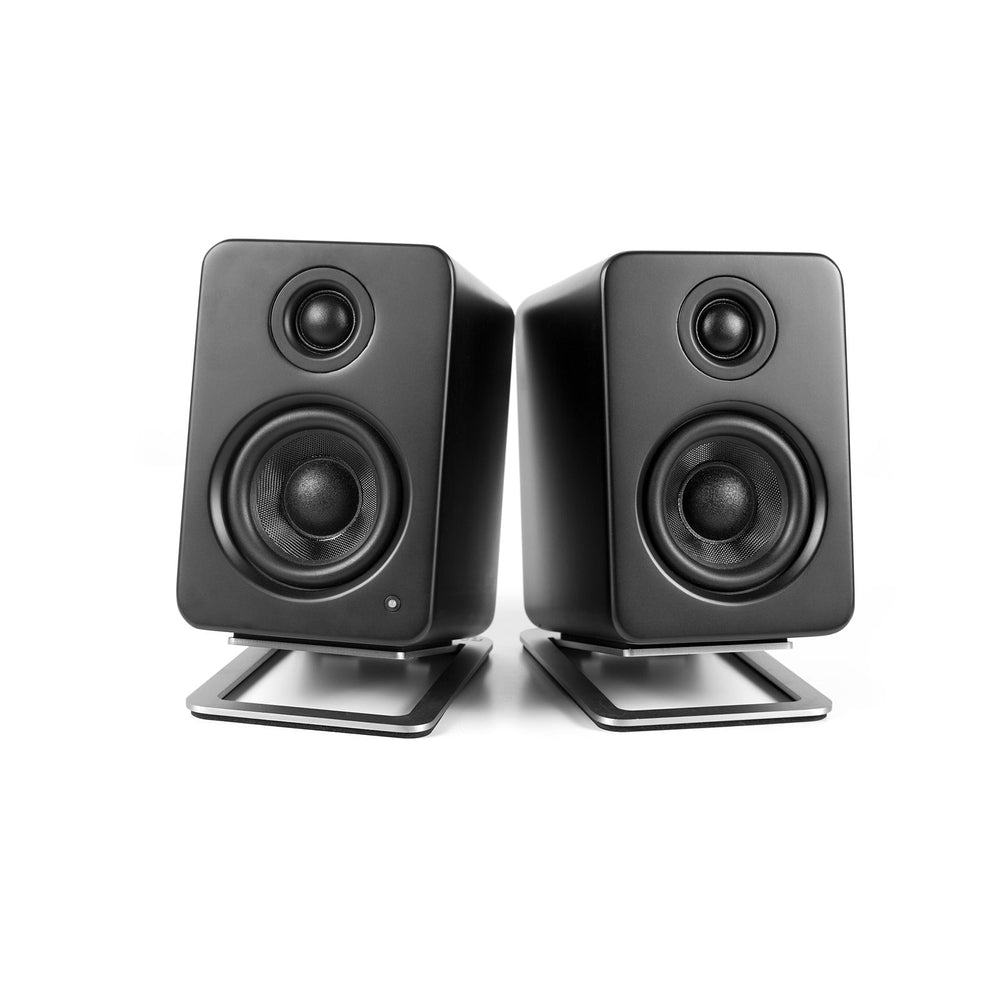 Kanto S2 Desktop Speaker Stands for Small Speakers - Pair (Stainless Steel)