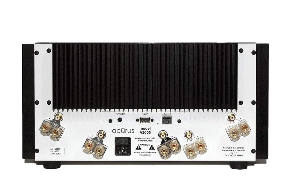 Acurus A2005R 5-Channel 200WX5 Smart Power Amp w/ Installed Rack Ears (Black)