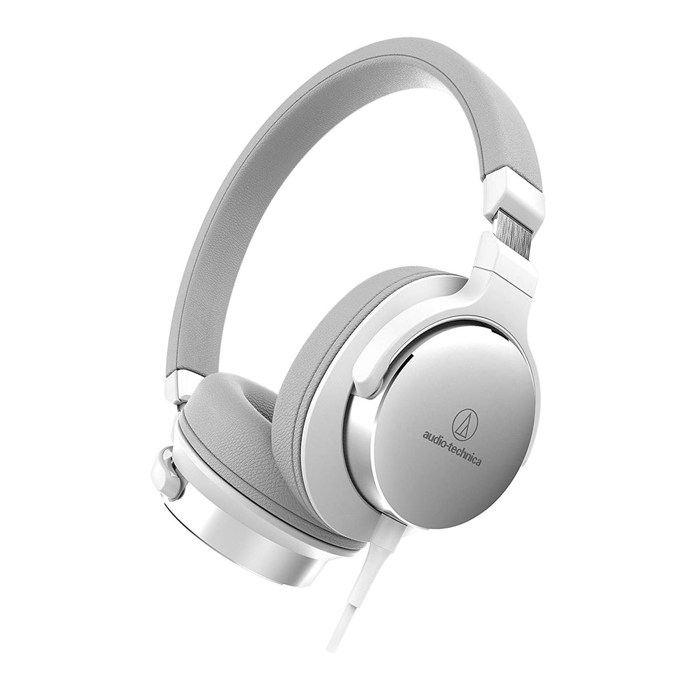Audio-Technica ATH-SR5WH On-Ear High-Resolution Audio Headphones, White