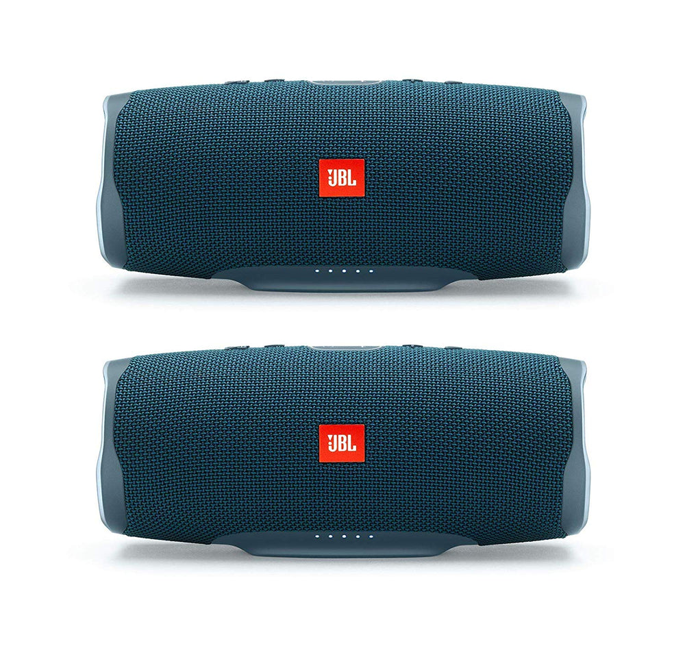 JBL Charge 4 Portable Waterproof Wireless Bluetooth Speaker - Pair (Blue)