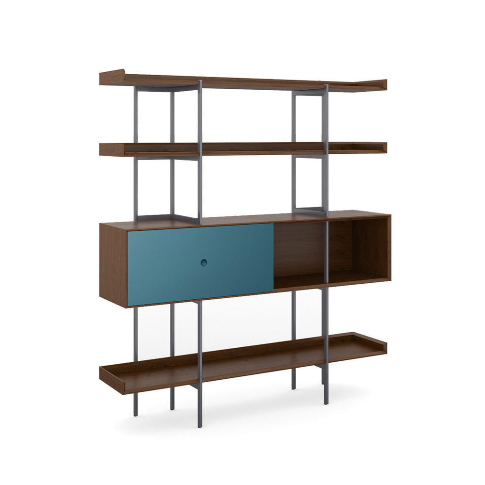 BDI Margo 5201 Shelf Toasted Walnut w/ Marine Door