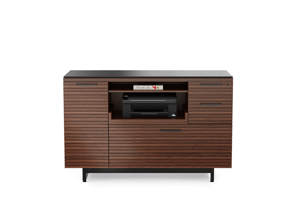 BDI CORRIDOR MULTIFUNCTION CABINET 6520- Chocolate Stained Walnut