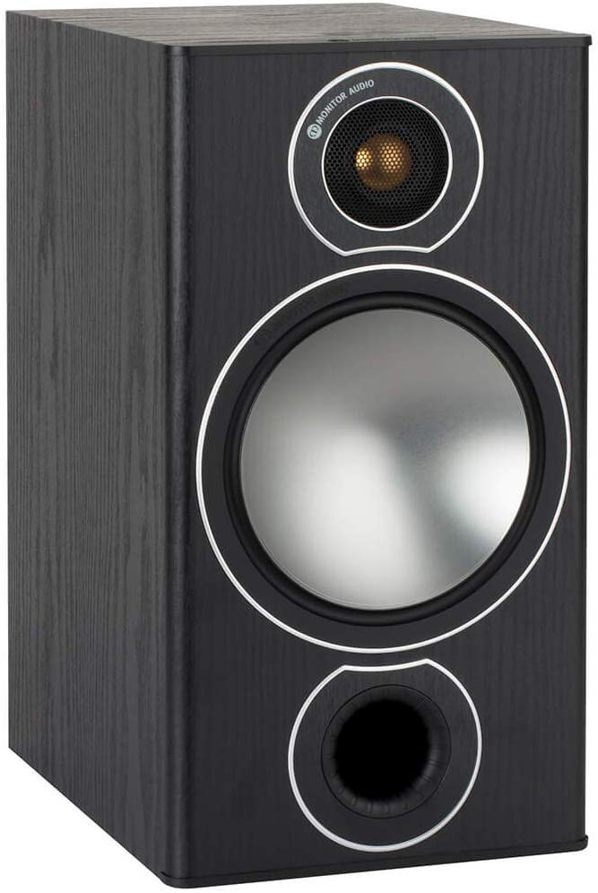 Monitor Audio Bronze 2 Bookshelf Speakers - Black Oak