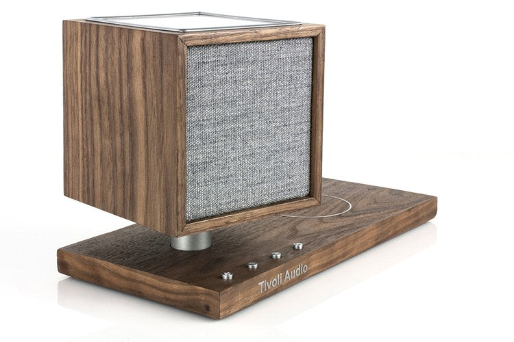 Tivoli Audio Revive Bluetooth Streaming Speaker with Wireless Charging Pad (Walnut)