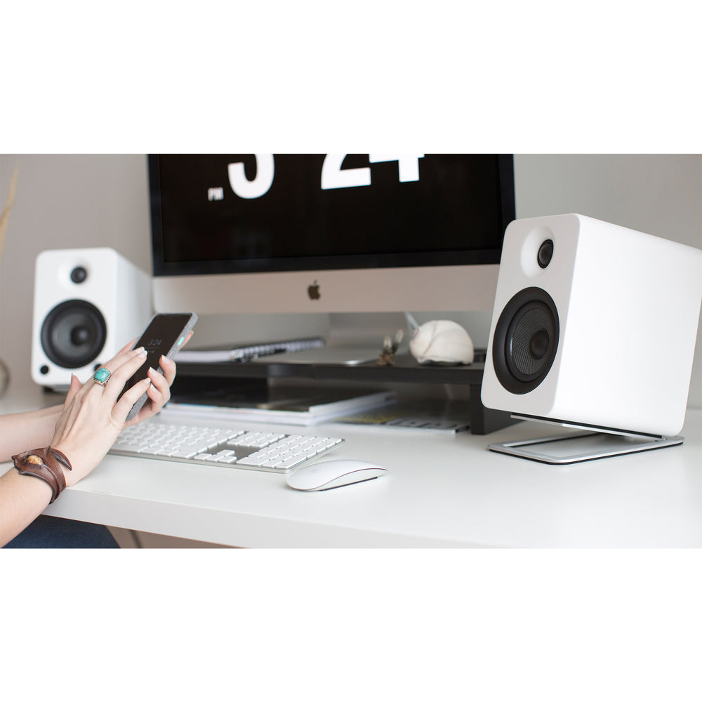 Kanto S4 Desktop Speaker Stands for Midsize Speakers - Pair (Aluminum)