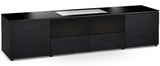 Salamander Chicago 245 Custom Cabinet for LG HU85LA 4K Ultra Short Throw laser projector (Black Oak, Black Glass Doors)