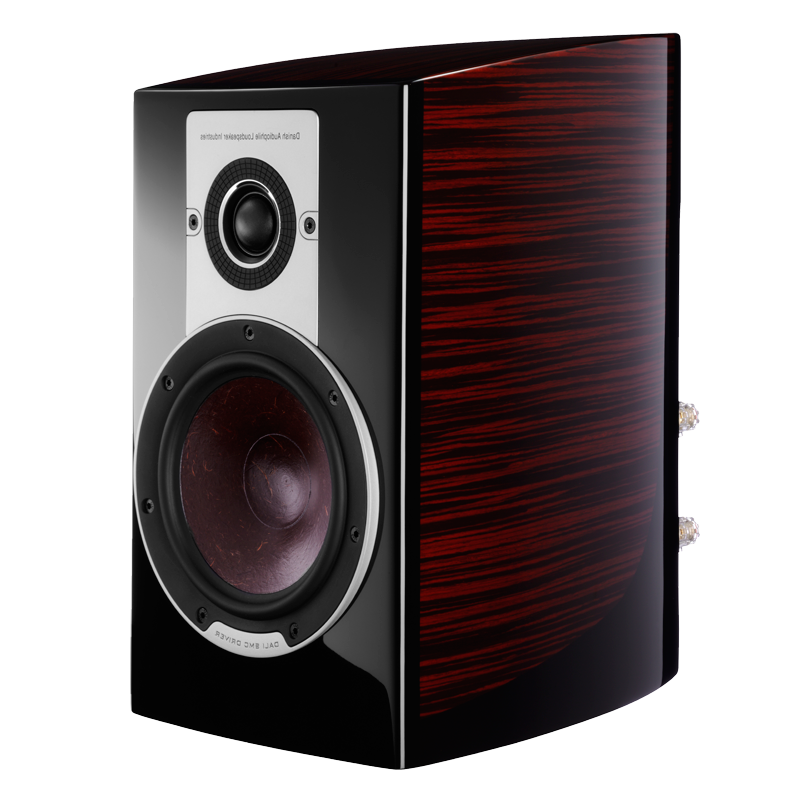 DALI EPICON 2 RUBY MACASSAR BOOKSHELF SPEAKER PAIR WITH STANDS