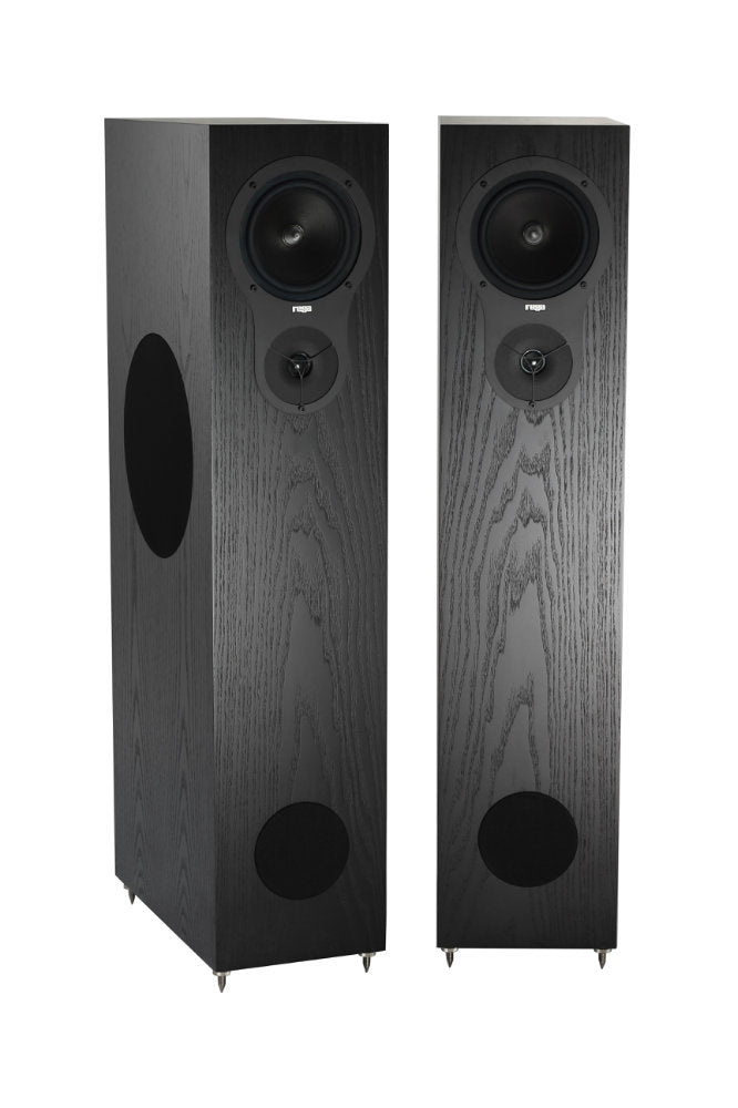 REGA RX5 BLACK FLOORSTANDING SPEAKER PAIR