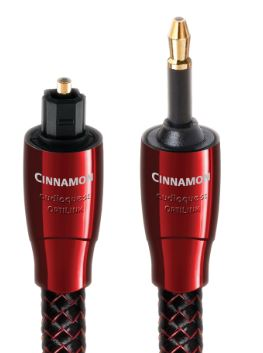 AudioQuest Cinnamon OptiLink .75m (2.46 ft.) Full to 3.5mm Optical Audio Cable