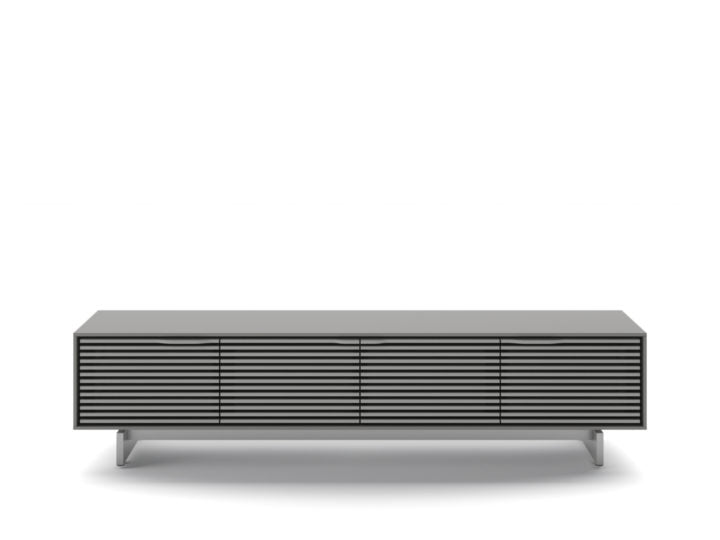 BDI ALIGN 7473 MEDIA BASE - FOG GREY FINISH
