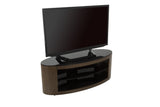AVF Affinity Plus - Buckingham Plus 1100 Oval TV Stand (Walnut/Black Glass)