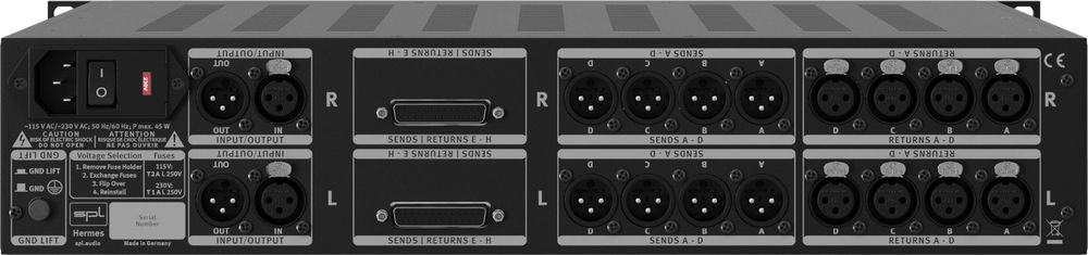 SPL Hermes Mastering Router with dual Parallel Mix (Black)