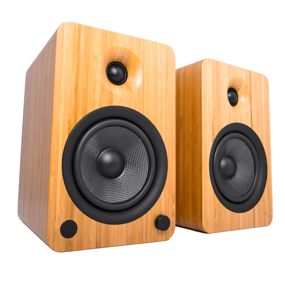 Kanto YU6 Powered Speakers with Bluetooth and Phono Preamp - Pair (Bamboo)
