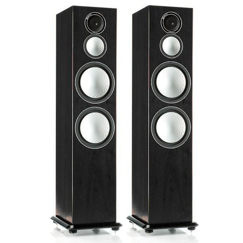 Monitor Audio - Silver Series 10 3-way Floorstanding Speaker - Each - Black Oak