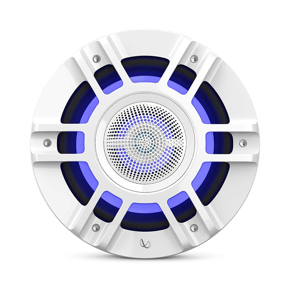 "Infinity KAPPA8130MAM 8"" Three-way RGB LED Convertible Speakers (White)"