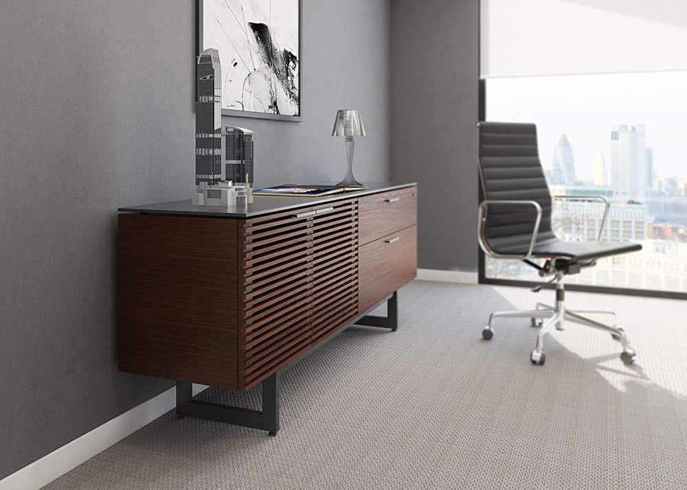 BDI CORRIDOR CREDENZA 6529- Chocolate Stained Walnut
