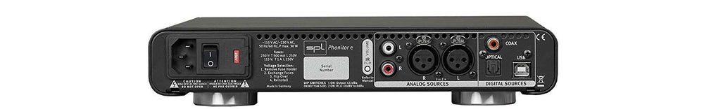 SPL Phonitor E Balanced Headphone Amp with 24bit/192 DAC (Black)