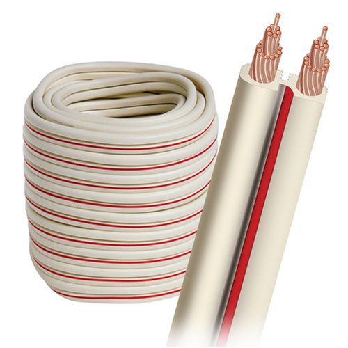 AudioQuest X-2 bulk speaker cable 50' (9.14m) spool - white jacket 14 AWG
