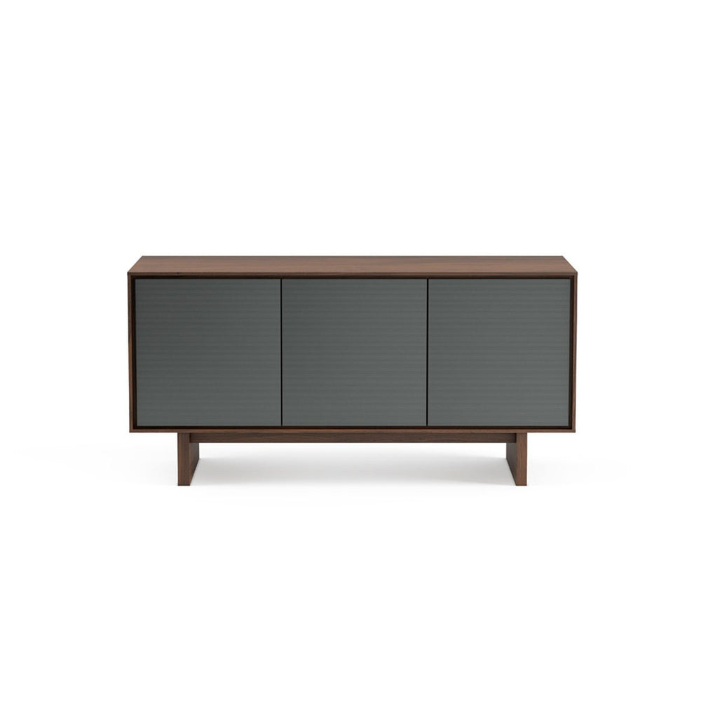 BDI Distributors Inc. BDI Octave 8377GFL Media Cabinet - Toasted Walnut