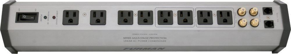 Furman 15 A 8 Outlet Surge Suppressor Strip w/SMP, Li FT and EVS PST-8