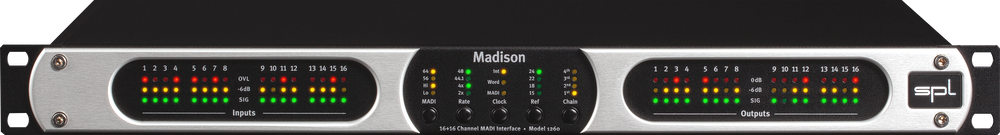 SPL Madison 16+16 Channel AD/DA Converter and MADI Interface