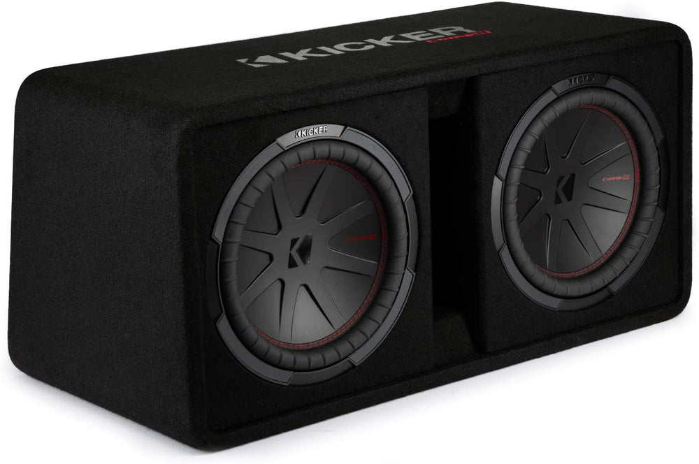 "KICKER CompR  - 48DCWR122 - 12""(30cm) Dual subwoofers in Vented enclosure, 2ohm, RoHS Compliant"