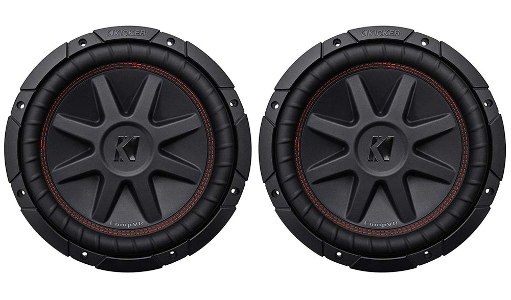 "Kicker 43CVR104 10"" Dual Voice Coil 4-Ohm Car Stereo Subwoofers Totaling 1600 Watt - Open Box"