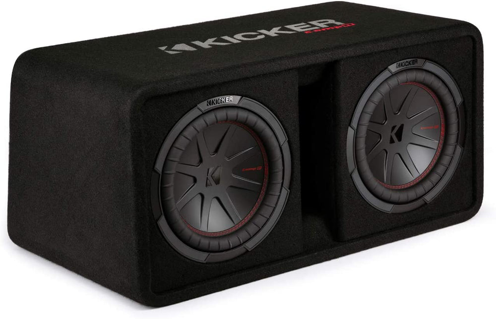 "KICKER - 48DCWR102 - 10""(25cm) Dual subwoofers in Vented enclosure, 2ohm, RoHS Compliant"