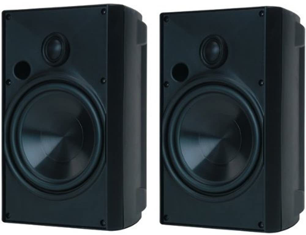 "Proficient AW525BLK Indoor/ Outdoor speakers with 5-1/4"" woofers & 1"" Tweeter. Black - Pair"