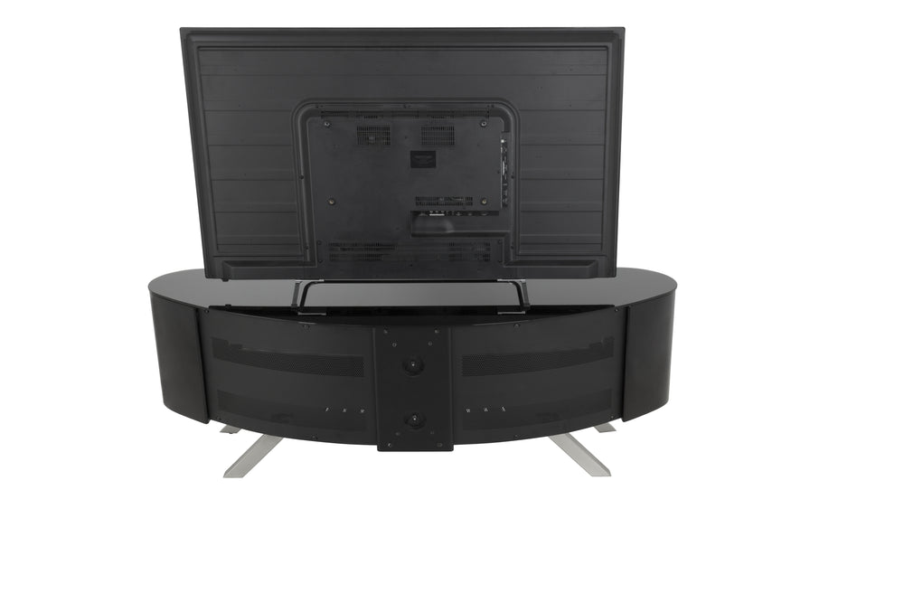 AVF Affinity Plus - Bay Plus 1500 Curved TV Stand (Black/Black Glass)