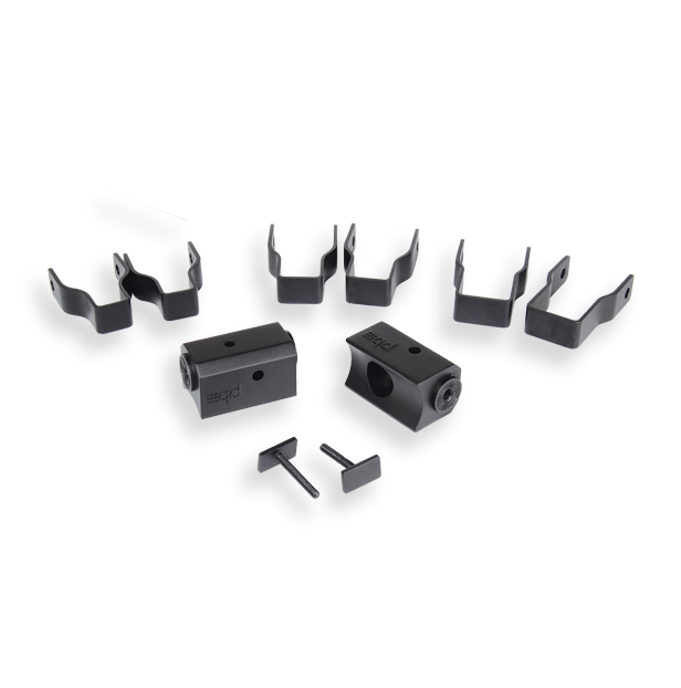 Powerbass XL-SBSCLAMP Thin Square Clamps for XL-Soundbars