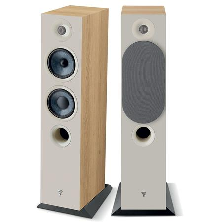 FOCAL CHORA 816 FLOORSTANDING SPEAKER PAIR - LIGHT WOOD FINISH