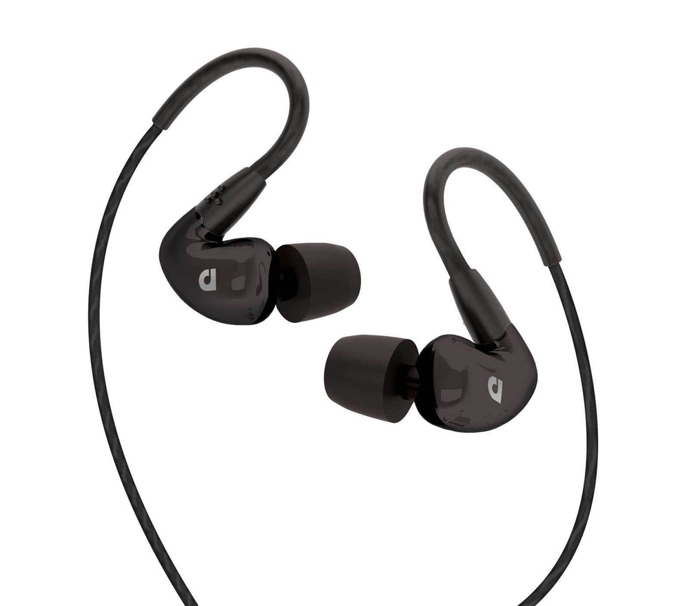 Audiofly AF100C In-Ear Monitor with 3 Button Mic and Control for Smartphones (Black)