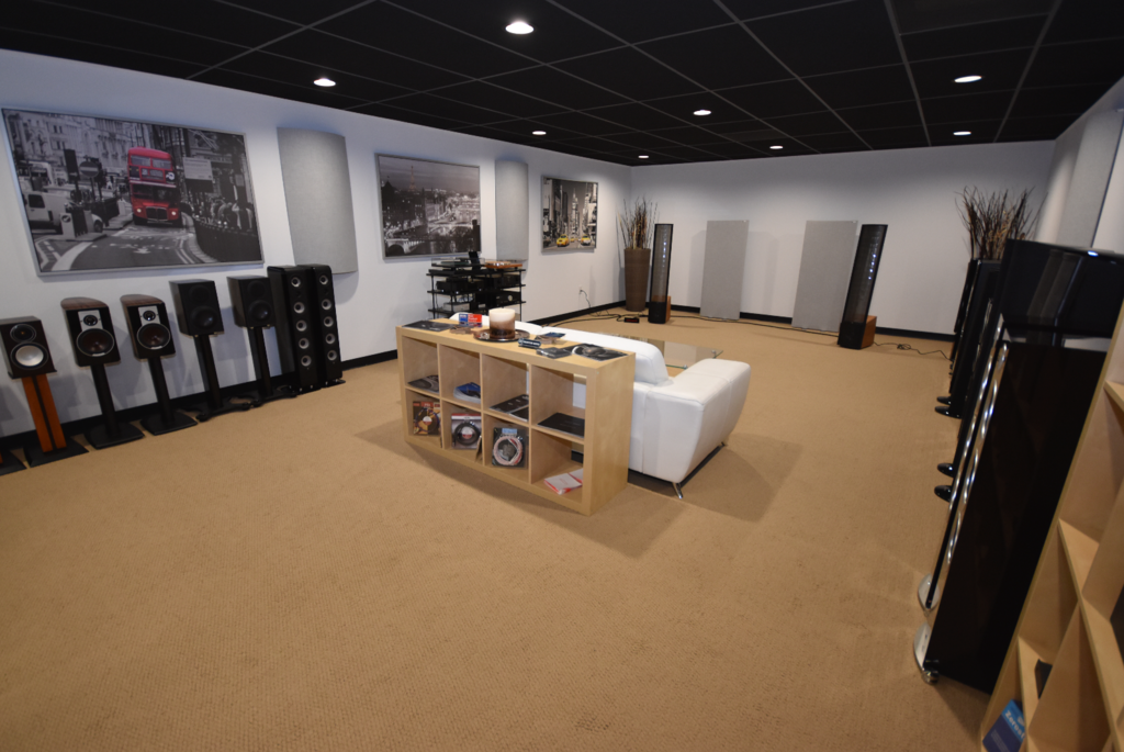Our latest addition to the showroom. This is one of two large listening rooms.