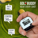 GOLFBUDDY aim V10 gps rangefinder with voice front middle back