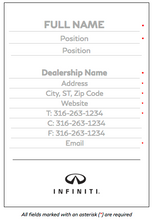 INFINITI Business Card