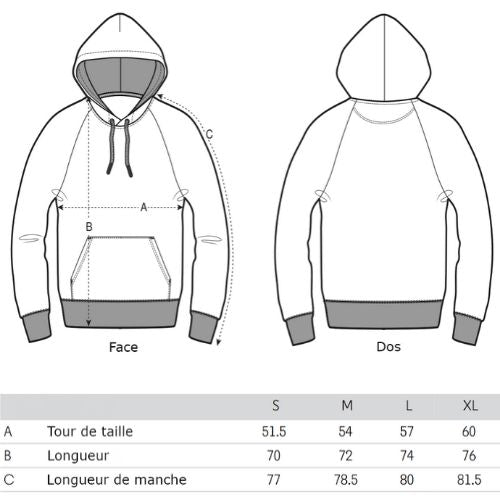 taille-sweat-capuche-nature-homme