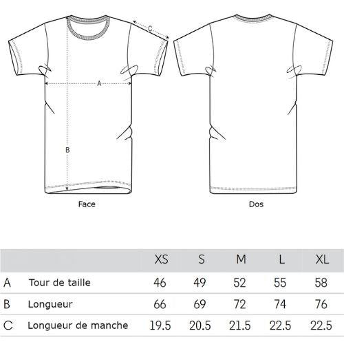 tailles-t-shirt-homme-collection-nature