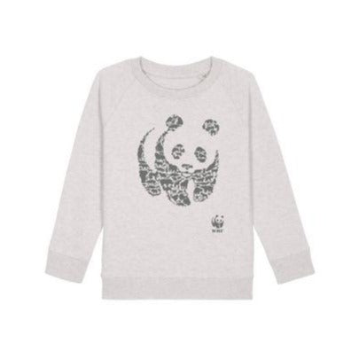 Sweat animaux en coton bio gris